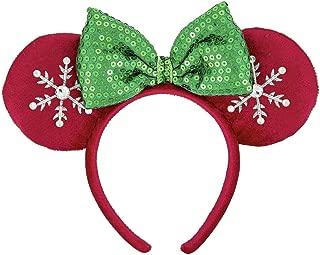 Disney Parks Snowflake Christmas Holiday Mickey Mouse Sequin Ears Headband