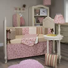 Glenna Jean Doodle Bug 4 Piece Crib Set, Pink/Brown