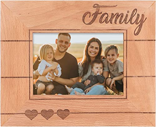popular GSM 2021 Brands Family Wooden Picture Frame (Holds 5 x 7 Inch Photo) (9 x 11 Inch Overall popular Size) outlet online sale