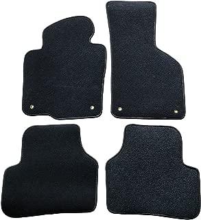 Floor Mats Compatible With 2009-2017 Volkswagen CC | 4 PCS Black Nylon Front Carpets Flooring Protection Interior By IKON MOTORSPORTS | 2010 2011 2012 2013 2014 2015 2016