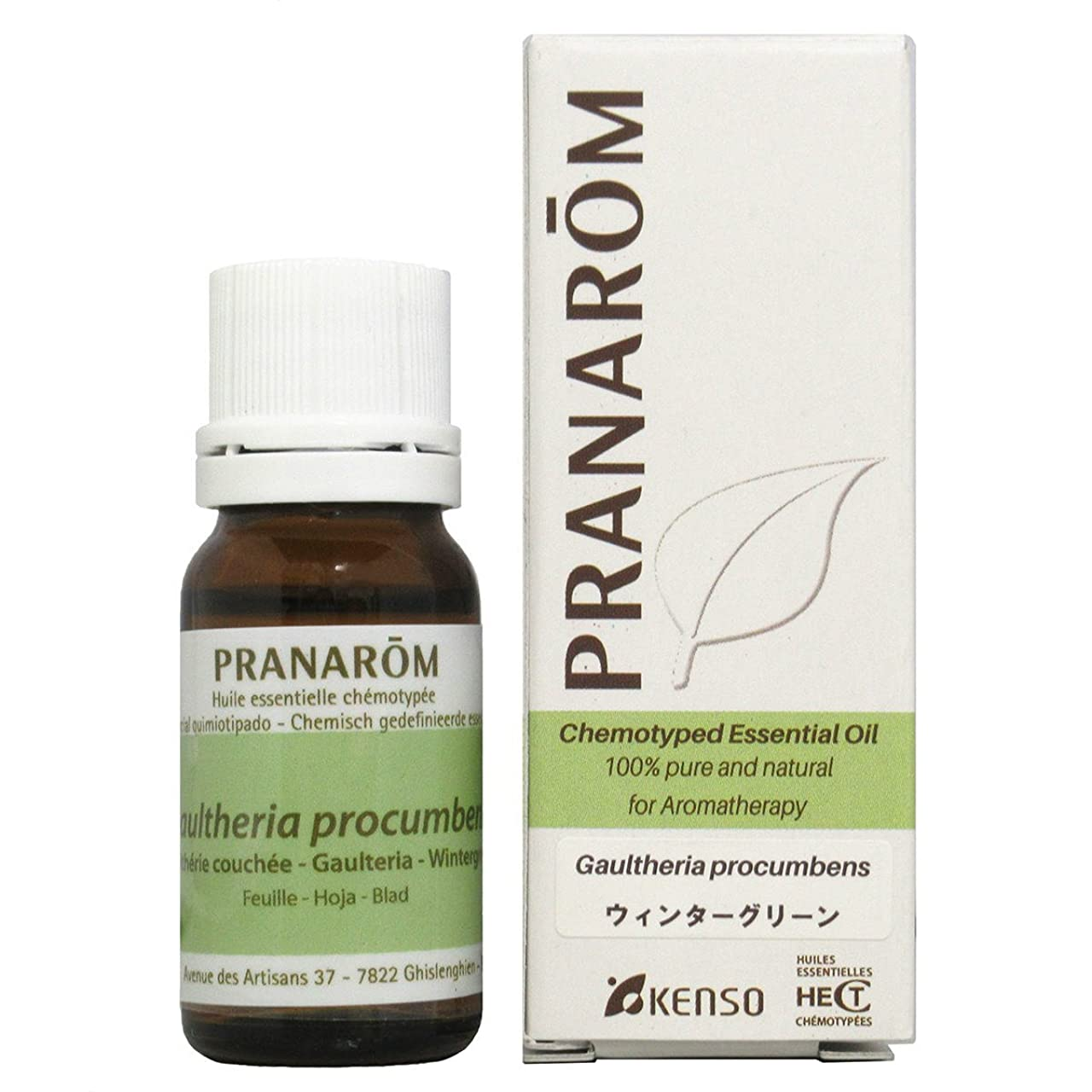 ベースハンカチ鰐プラナロム ウィンターグリーン 10ml (PRANAROM ケモタイプ精油)