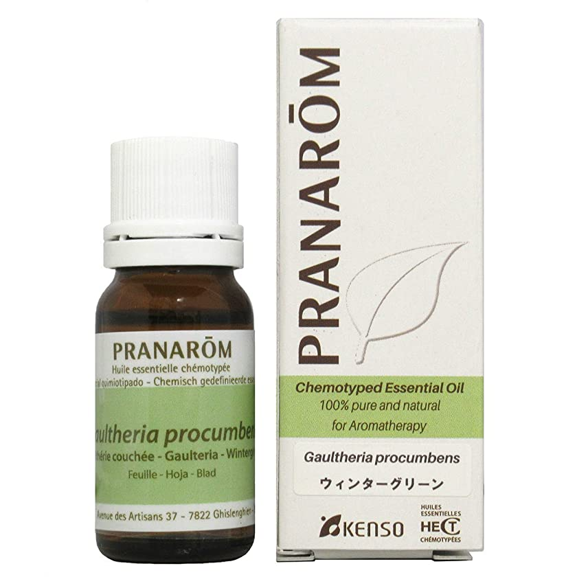 光景風が強い錆びプラナロム ウィンターグリーン 10ml (PRANAROM ケモタイプ精油)