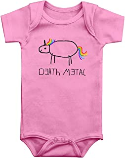 Death Metal Unisex Body rosa Einhorn, Fun-Merch, Musik, Tiere & Haustiere