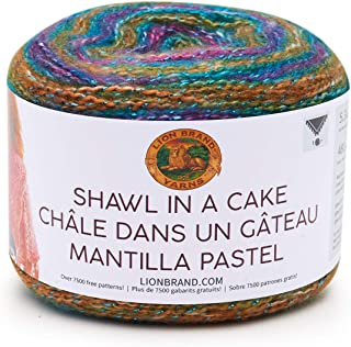 Lion Brand Yarn 455-302 Shawl in a Cake- Metallic Yarn, Prism