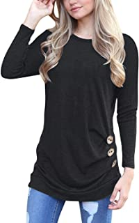 542709563d MOLERANI Women s Casual Long Sleeve Round Neck Loose Tunic T Shirt Blouse  Tops