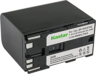 Kastar Battery (1-Pack) for Canon BP-945, BP-950, BP-970, Canon C2, FV1, FV500, Optura, Ultura, Vistura, DM-XL2, DM-MV20, E65AS, ES-8600 Hi8, G2000, GL2, MV200i, UC-V300, V75Hi, XH-G1, XL-H1, XM2, XV3