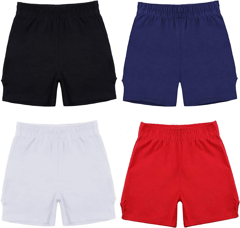 Ruisita 4 Pack Girls Authentic Cheer Short Dance Shorts Girls Bike Shorts