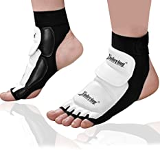 Xinluying Women Men Taekwondo Foot Protector Gear Martial Arts Fight Boxing Punch Bag Sparring Training MMA UFC Thi Leather S-XXXL