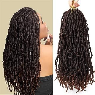 Faux Nu Locs 6 Packs Goddess Curly Wavy Twist Crochet synthetic Braiding Hair Extensions Dreads Crochet Hair Dreadlocks 18 inches (18