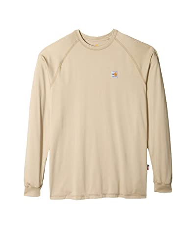 Carhartt Big Tall Flame-Resistant Force(r) Long Sleeve T-Shirt (Khaki) Men