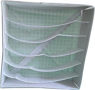 Organisateur de placard avec cloisons de couleur grise, matériau 6 séparateurs 1 pièce