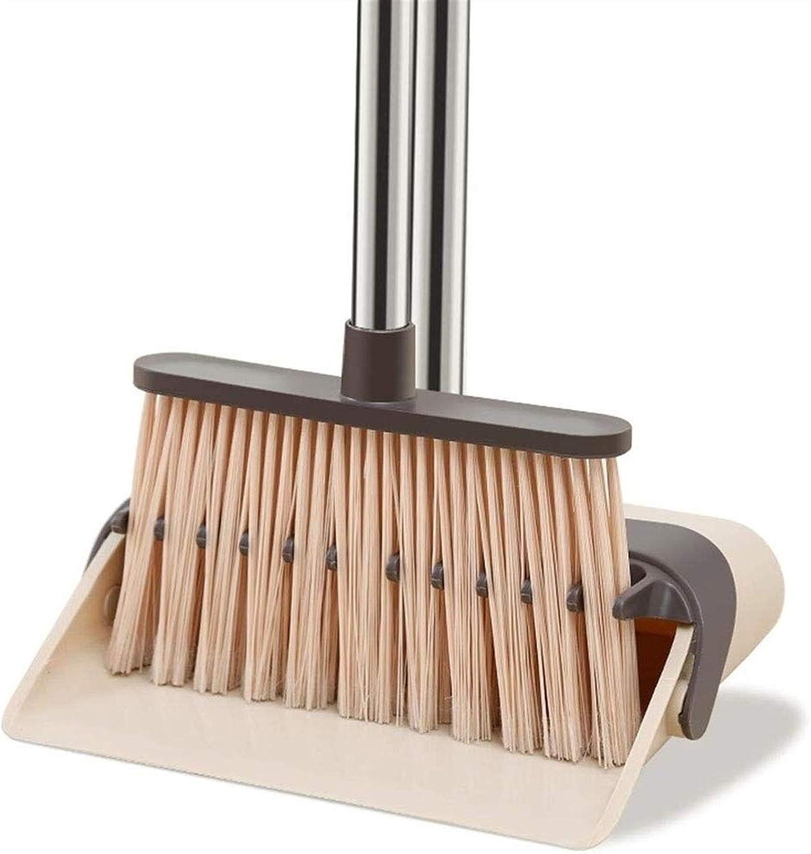 Denver Mall HIZLJJ Broom and Dustpan Ranking TOP14 Set Easy Folding Broo Self-Cleaning -