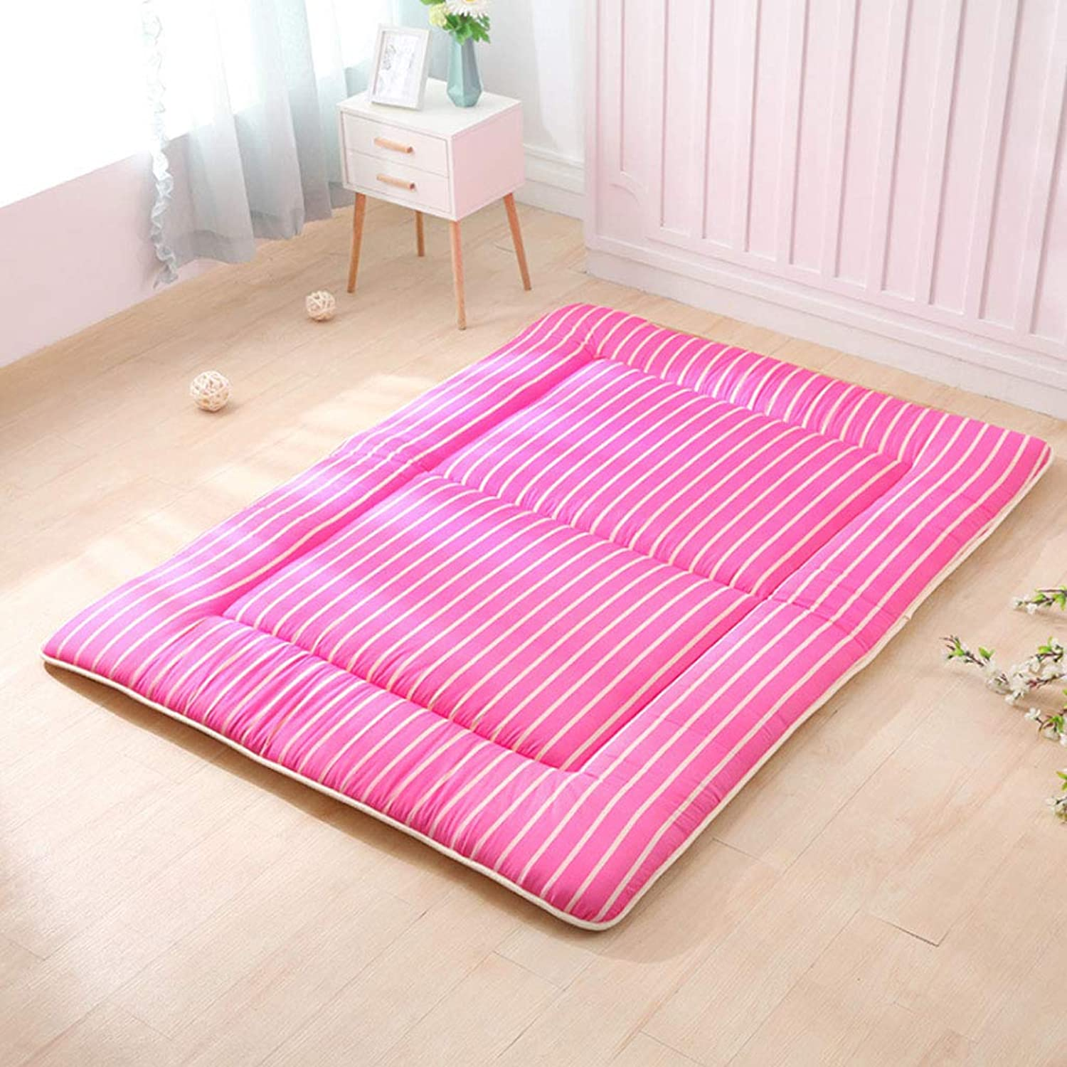 Double Mattress, Tatami Mat Quilted Student Dormitory Non-Slip Futon Mattress Foldable Sleeping Mat (color   2 , Size   180X200cm)