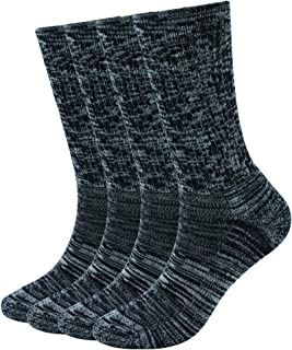 4P 86% Merino Wool Women's Outdoor Hiking Trail Crew Socks