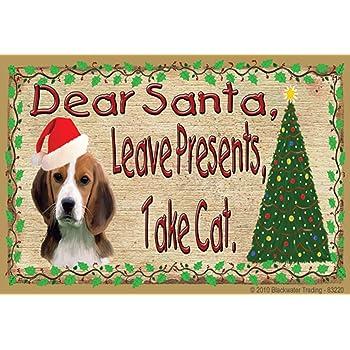 "Dauschund Dear Santa Take Cat Christmas Fridge Refrigerator Magnet 3.5/""x2.5/"""