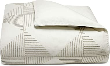 Hotel Collection Cotton Diamond Embroidered King Duvet Cover - Contemporary Look