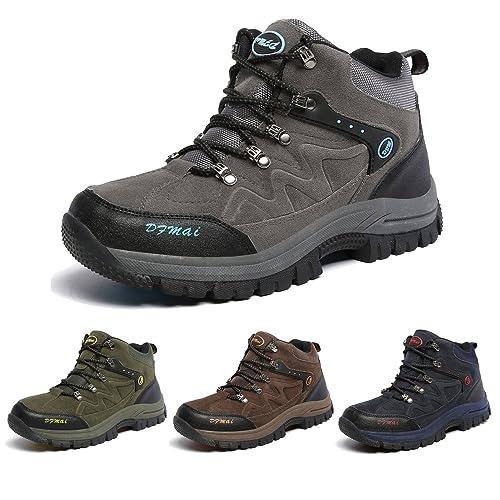 J&T Zapatos de Senderismo Para Hombre Resistente Al Agua Botas de Senderismo Deportes Exterior Boats Escalada