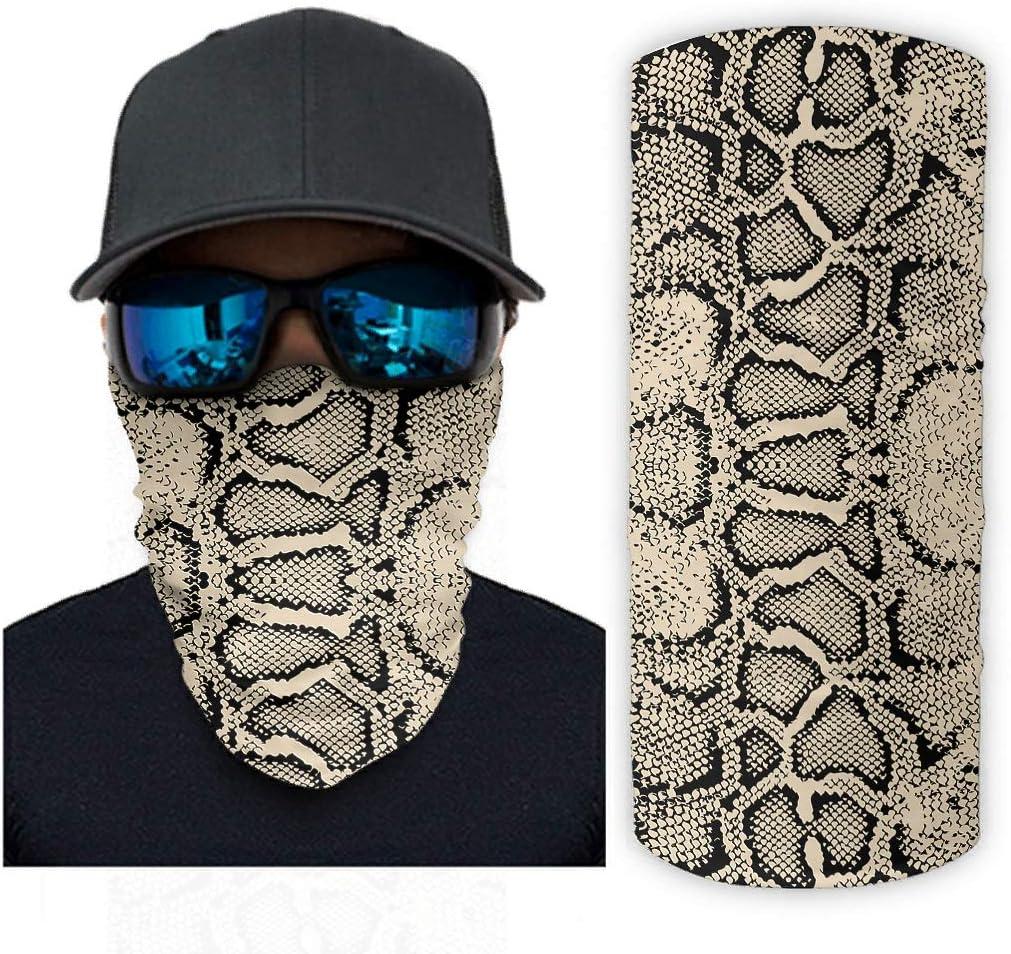 Clubdeer Snakeskin Pattern Magic Scarf Men 55% OFF Wr Bandanas 100% quality warranty Women for