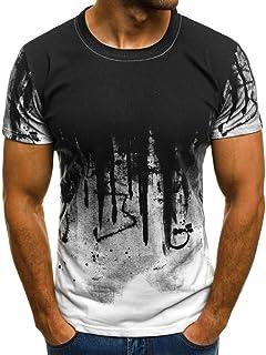 UJUNAOR Men Tee Slim Fit Hooded Short Sleeve Muscle Casual Tops Blouse Shirts