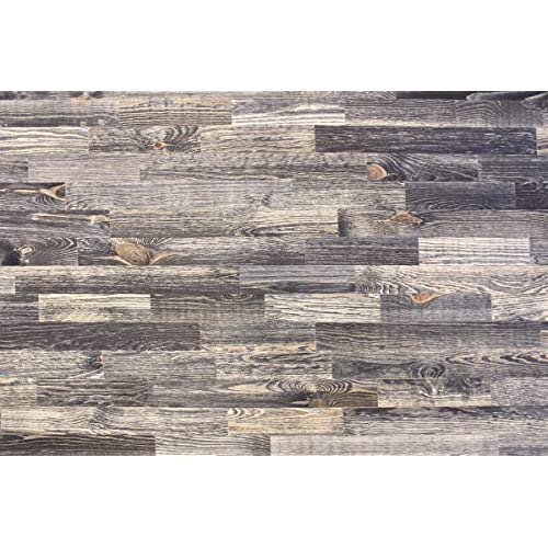 wodewa Wood Cladding for Walls Vintage Style Used Look 1m² Colorful Shabby Chic Wooden Wall Panels Covering Living Room Kitchen Bedroom Wall Decoration Panelling V006