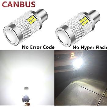 No Hyper Flash 1850Lumen 45SMD BAU15S 7507 PY21W Front Rear Turn Signal Bulb Canbus Error Free Led Turn Signal Lights Amber Yellow Pack of 2 Teguangmei Turn Signal Light Bulbs