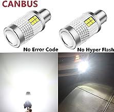 Alla Lighting Brightest CANBUS BAU15S 7507 LED Bulbs 3000Lm High Power 3030 30-SMD 12V LED 7507 Bulb 12V 21W PY21W 12496 7...