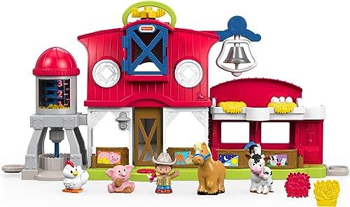 Fisher-Price Little People les Animaux de la Ferme Jouet Enfant, 5 Figurines, Éveil et Développement de l'Imagination...