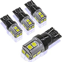 DODOFUN T10 Extra Bright White Car Interior Exterior Replacement Bulb 168 175 194 2825 W5W etc. Size Map Dome Reverse Back Up LED Light 12V ~ 24V (Pack of 4)