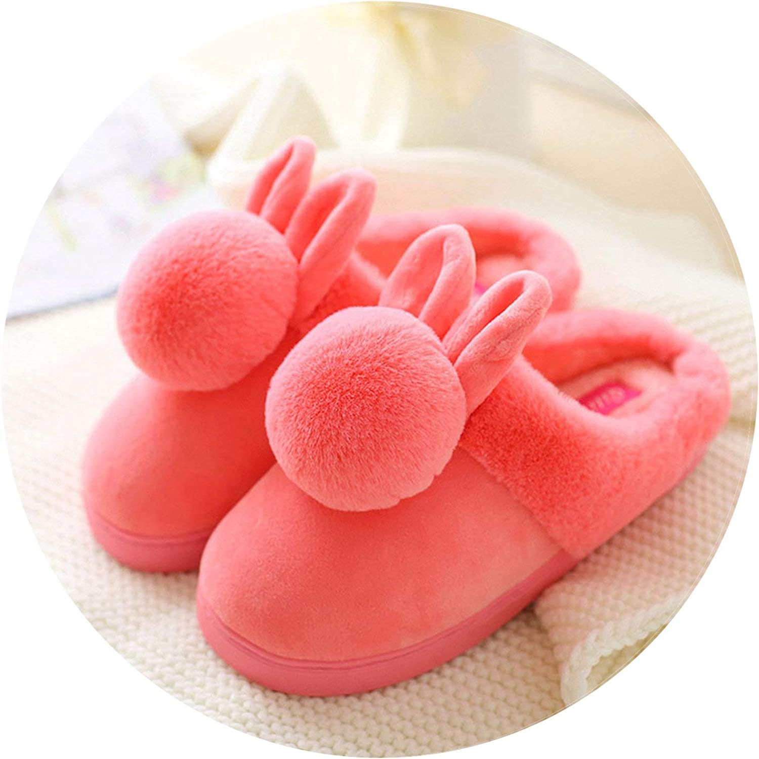 Cotton Slippers in Autumn Winter All Inside Outside The House Anti-Skid House Warm Thick-Rooted wome