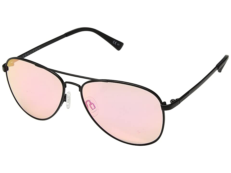 VonZipper Farva (Black/Pink) Fashion Sunglasses