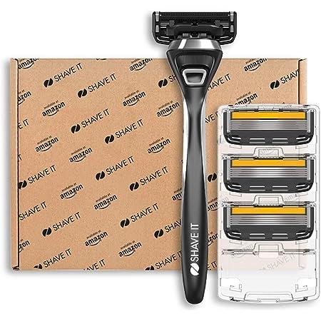 Shave It Pro, rasoio a 5 lame, con manico e 4 lame