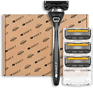 Shave It Pro, 5 blad rakapparat med handtag och 4 bladhuvuden