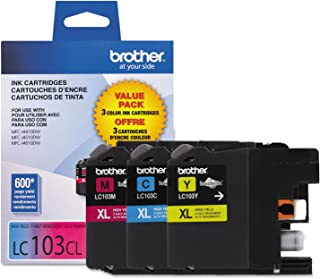 Brother Genuine High Yield Color Ink Cartridge, 3 Pack of LC103 , Replacement Color Ink Three Pack, Includes 1 Cartridge E...