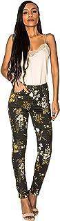 Crazy Age damskie spodnie jeansowe w kwiaty, spodnie letnie, wysoka talia, modne