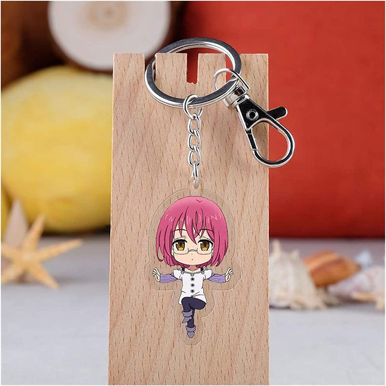 WUTONG Keychain Keychain Cartoon Car Key Holder Chain Pendants Keyrings Key Rings (Color : H07, Size : 55mm)