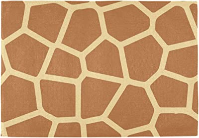 Amazon Com Naller Set Of 6 12 X 18 Inches Table Mats Placemats Printing Home Decoration Giraffe Skin Pattern Double Sided Home Kitchen