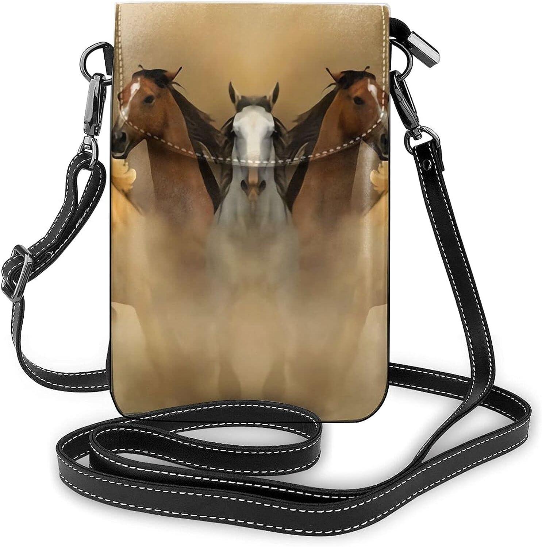 mengmeng Correr caballo carreras Cruz cuerpo bolsa pequeño teléfono celular bolso casual hombro bolsas para las mujeres
