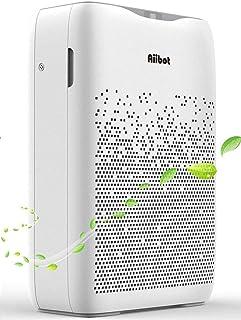 Aiibot Purificador de Aire con Flitro HEPA Carbón Activado,hasta 55 m² para 99,97% Polvo/Olor/Pelos Animales/Humo/Alérgeno...