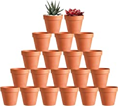 "20 Pcs 3"" Terracotta Clay Pots Pack of Small Craft Nursery Cactus Pot Water Permeable Succulent Plant Pottery Planter DIY ..."