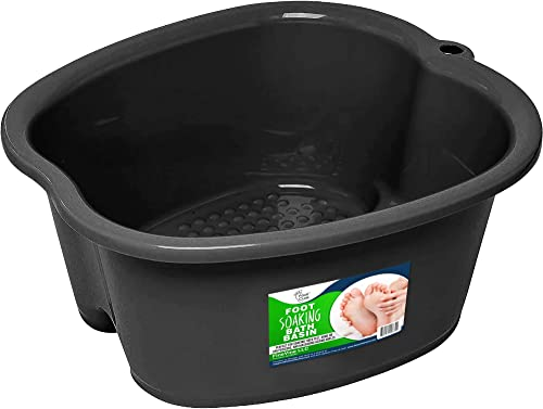 Foot Soaking Bath Basin – Large Size for Soaking Feet | Pedicure and Massager Tub for At Home Spa Treatment | Relax a...