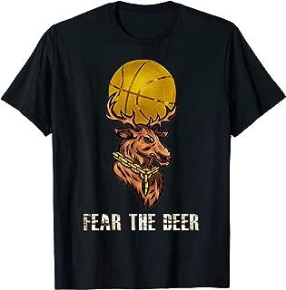 Fear Deer Gift for Milwaukee Basketball Bucks Fans T-Shirt