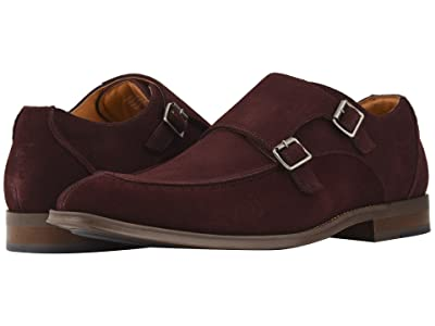 Stacy Adams Balen Double-Monk Strap Loafer (Oxblood Suede) Men