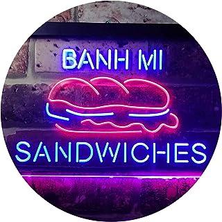 Banh Mi Sandwiches Café Dual Color LED Neon Sign Red & Blue 400 x 300mm st6s43-i3372-rb
