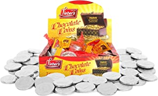 Sponsored Ad - Lieber's Dairy-Free Chocolate Coins, Bittersweet Chocolate Gelt, Hanukah Chocolate, Kosher Parve Certified,...