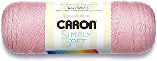 Caron Simply Soft Solids Yarn (4) Medium Gauge 100% Acrylic - 6 oz - Pink - Machine Wash & Dry (H970039719)