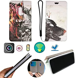 FY Flip Case For Tecno Spark 4 Lite Cover Flip PU Leather + Silicone Ring case Fixed LLH