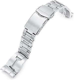 Strapcode, cinturino per orologio, 20 mm, 20 mm, stile retrò, in acciaio inox 316L, per Tudor BB58, spazzolato con chiusur...