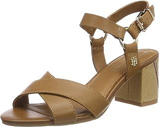 178bb7e0 Tommy Hilfiger Elevated Leather Heeled Sandal, Sandalias con Plataforma  para Mujer