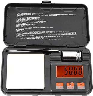 ZCY Báscula de Peso portátil de Alta precisión, báscula electrónica, coleccionables con Pantalla de visión Nocturna para joyería, pesaje de Alimentos