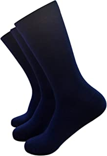 Braintree - Blissfully Soft Solid Bamboo Socks - Pack of 3 Pairs, Blue, Sock Size- US 8-12, UK 7-11